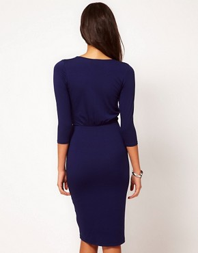 Image 2 ofASOS Pencil Dress With Wrap Front