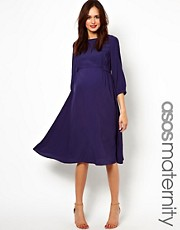 ASOS Maternity &ndash; Midikleid mit Seitenlaschen