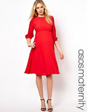 ASOS Maternity Midi Dress With Tab Side
