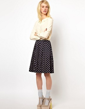 Image 1 ofOrla Kiely Full Skirt in Little Galleon Print