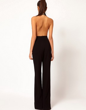 Image 2 ofAqua Laurent Backless Halterneck Jumpsuit
