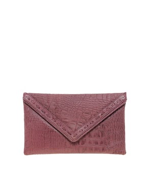 Image 1 ofJocasi Leather Envelope Clutch Bag