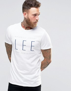 Lee Logo Print T-Shirt White