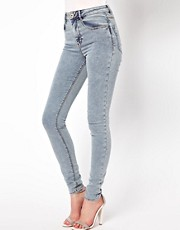 ASOS Ridley Supersoft High Waisted Ultra Skinny Jeans in Light Acid Wash