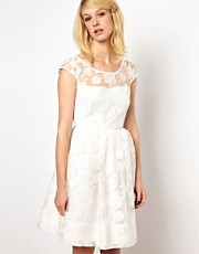 Orla Kiely Cloud Organza Dress in White
