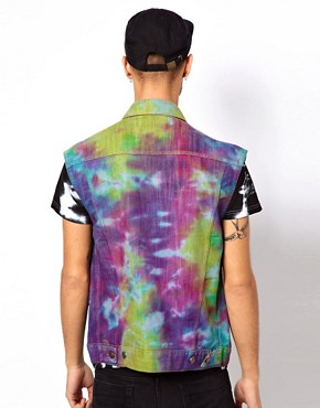 Image 2 ofVintage Gilet with Studded Tie-Dye