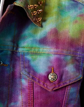 Image 3 ofVintage Gilet with Studded Tie-Dye