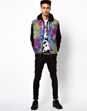 Image 4 ofVintage Gilet with Studded Tie-Dye