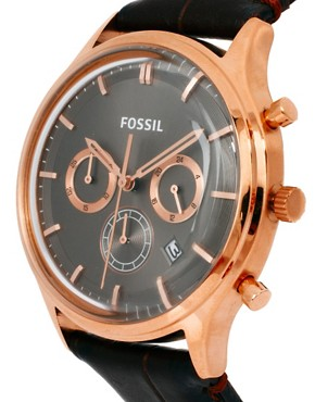 Image 4 ofFossil Heritage Leather Strap Watch