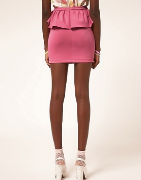 Image 2 ofASOS Cute Peplum Frill Mini Skirt