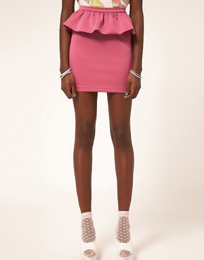 Image 4 ofASOS Cute Peplum Frill Mini Skirt
