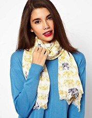 Oasis Scarf in Elephant Print