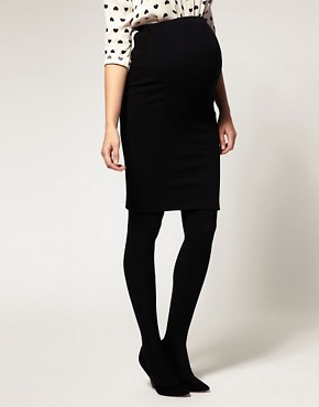 Image 4 ofASOS Maternity Exclusive Pencil Skirt in Ponte