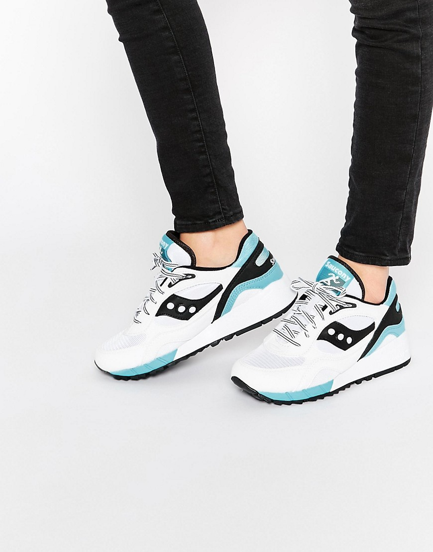 Image 1 of Saucony Shawdow 6000 White & Black Trainers