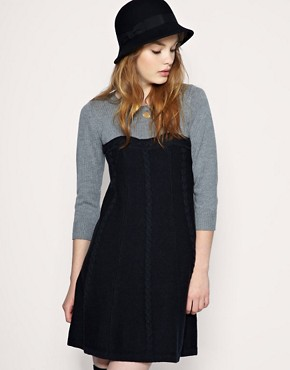 Image 1 ofASOS Cable Knit 2 In 1 Dress