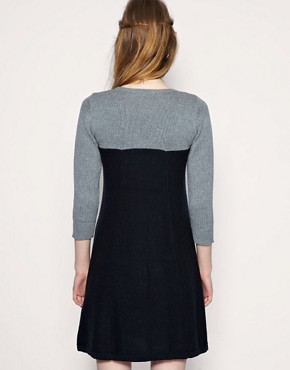 Image 2 ofASOS Cable Knit 2 In 1 Dress