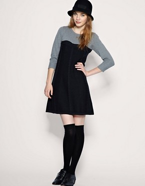 Image 4 ofASOS Cable Knit 2 In 1 Dress