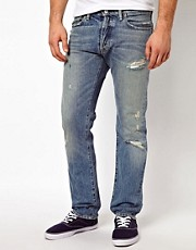 Vaqueros de corte slim con detalle de arreglo de Denim & Supply by Ralph Lauren