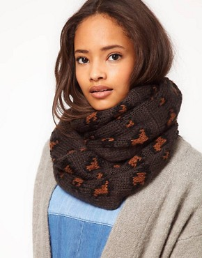 Image 1 ofASOS Knitted Leopard Snood