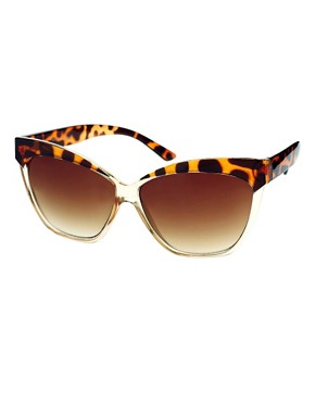 Image 1 ofASOS Cat Eye Sunglasses With Contrast Highbrow
