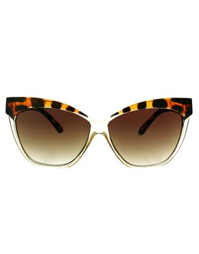 Image 2 ofASOS Cat Eye Sunglasses With Contrast Highbrow