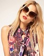 Image 3 ofASOS Cat Eye Sunglasses With Contrast Highbrow