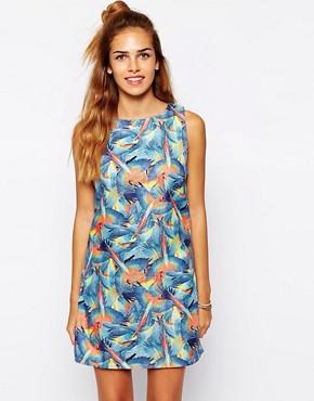 Glamorous Shift Dress in Parrot Print