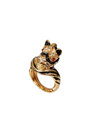 Image 1 ofKenneth Jay Lane Zebra Ring