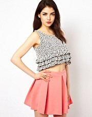 Oh My Love Printed Crop Top
