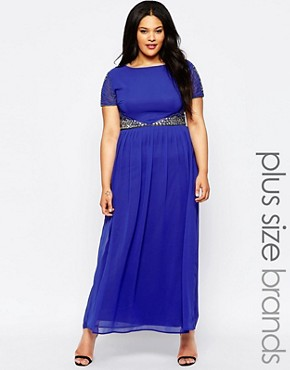 Lovedrobe Maxi Dress With Embellished Waist
