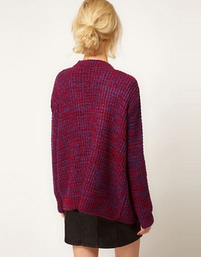 Image 2 ofASOS Edge To Edge Cardigan In Grid Pattern