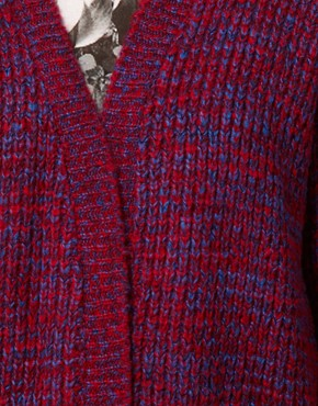 Image 3 ofASOS Edge To Edge Cardigan In Grid Pattern