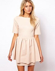 ASOS Skater Dress With Peplum Skirt