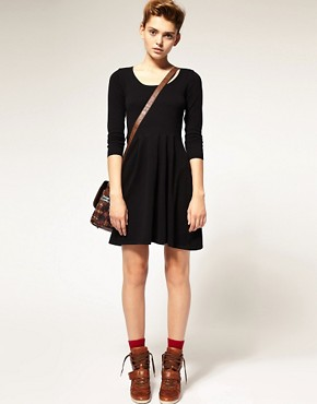 Image 4 ofASOS Knitted Dress With Zip Back