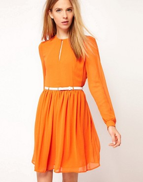 Image 1 ofKaren Walker Keyhole Front Dress
