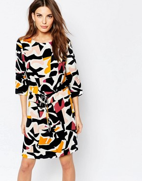 Selected Dimer Dress in Graphic Print