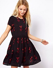 ASOS Smock Dress In Festival Print
