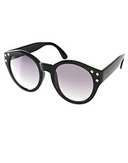 ASOS Studded Round Sunglasses