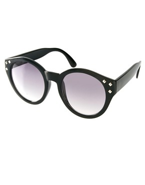 Image 1 ofASOS Studded Round Sunglasses