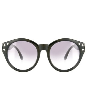 Image 2 ofASOS Studded Round Sunglasses