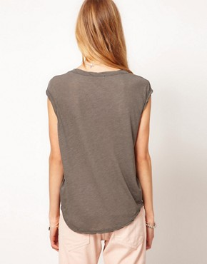 Image 2 ofJames Perse Curved Hem Shell Top