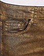Image 3 ofASOS Biker Skinny Jeans in Distressed Bronze