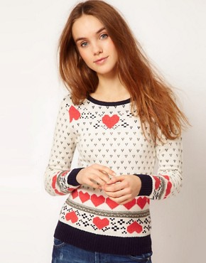 Image 1 ofA Wear Heart Fairisle Jumper
