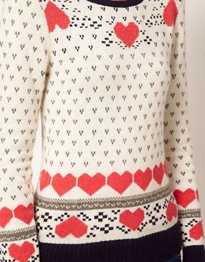 Image 3 ofA Wear Heart Fairisle Jumper