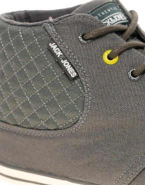 Image 2 of Jack & Jones Intelligence Vertu Canvas Chukka Boots