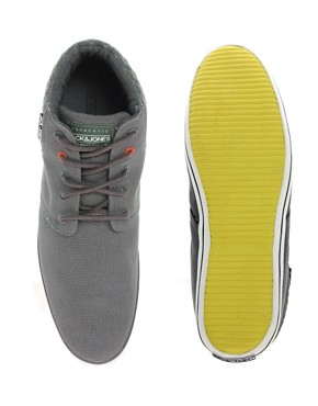 Image 3 ofJack &amp; Jones Intelligence Vertu Canvas Chukka Boots