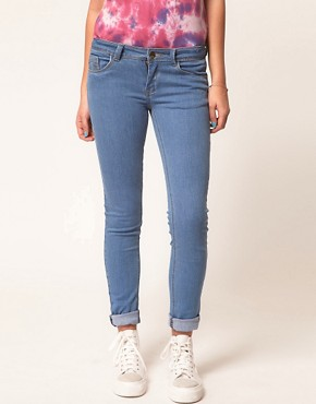 Image 1 ofA Wear Light Wash Skinny Jean