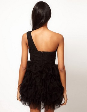Image 2 of Opulence England Lace One Shoulder Ballerina Dress