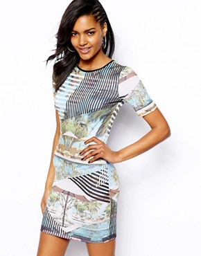 River Island Pool Side Print Column Dress