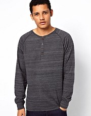 Vans Long Sleeve Top Benton Henley Stripe